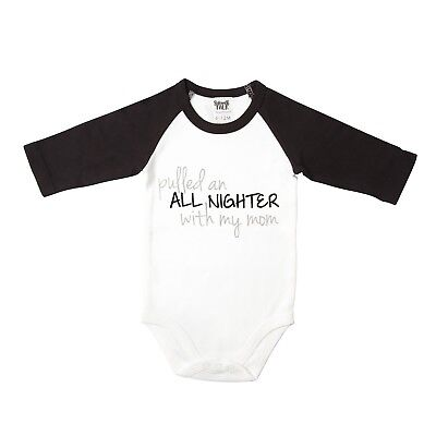 Infant's Babies With Attitude 3/4 Sleeve Snapsuit - Pulled an All Nighter
