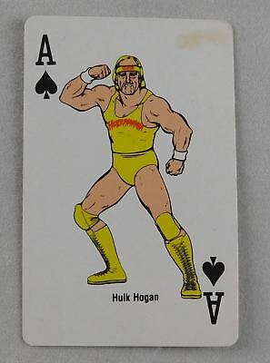 Hulk Hogan Spades Playing Card WWF Wrestling Collector Coliseum WWE 1988