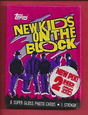 1989 Topps New Kids on the Block 2nd series single Wax Pack