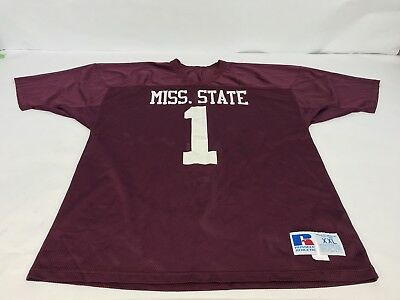 Vintage Russell Athletic Mississippi State Bulldogs NCAA Football Jersey Sz 2XL