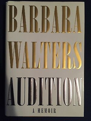 Barbara Walters signed book Audition autographed