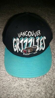 newest 8ecff a5c94 Vintage Vancouver Grizzlies New Era Snapback Hat Cap 9Fifty. Black Teal.