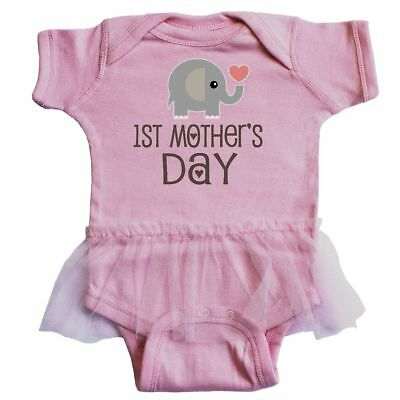 Inktastic Happy First Mothers Day With Panda Bears Infant Tutu Bodysuit Kids 1st