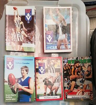 1980 - 1989 VFL Football Record Name a Game Non Grand Final and Finals