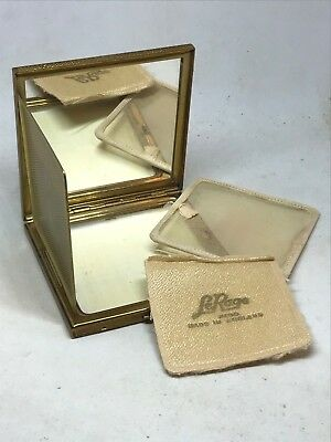 Vintage Le Rage Powder Compact.Sophisticated Design. Golden Beauty. Collectible!