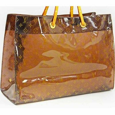 25603a801aa5 LOUIS VUITTON Monogram Vinyl Cabas Cruise Tote Hand Bag Brown M50500 Used