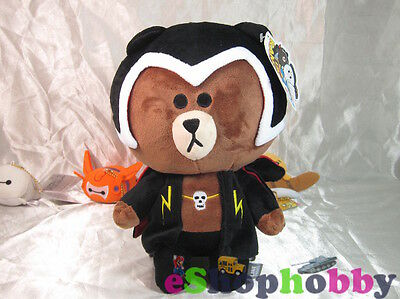 Mobile Game LINE RANGERS THUNDER BROWN Polyester Plush Toy Stuffed Character