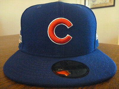 Chicago Cubs New Era 59Fifty 2016 Post Season Side Patch Fitted Hat Size 7  1  d3548c2ab560