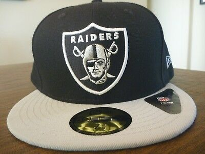 quality design 43d6e 8407d ... order oakland raiders new era 59fifty nfl black team gray bill fitted  hat size 7 3