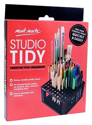 Mont Marte Studio Tidy Paint Brush Pencils Organizer Holder Art Table Organize