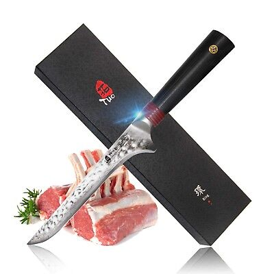 TUO Cutlery Boning Knife 6 Inch - Damascus Kitchen Fillet Knives - Japanese A...