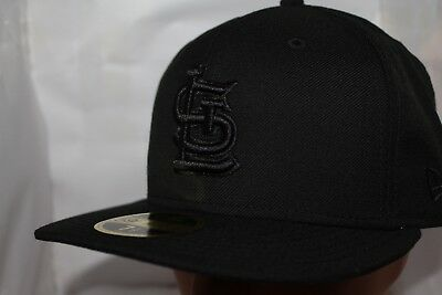 promo code 1df42 94327 St Louis Cardinals New Era MLB Triple Black Low Profile 59Fifty,Cap,Hat NEW