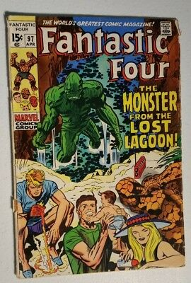 Fantastic Four # 97 1970 Marvel Comic Monster From Lagoon Stan Lee Jack Kirby