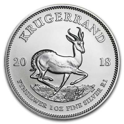 2018 Silver Krugerrand 1oz .999 Silver Bullion Coin - South African Mint