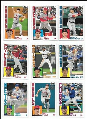 2019 Topps Series 1 1984 Design Insert (1-100) PICK FROM LIST COMPLETE YOUR SET