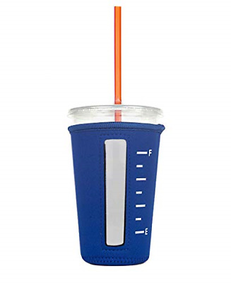 Insulated Neoprene Cup Sleeve/Holder for Iced Beverages, Coffee, and Tea Royal