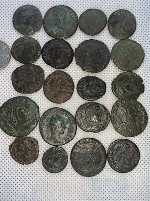 11MB Lot of 20pcs.Ancient Late Imperial Roman Coin