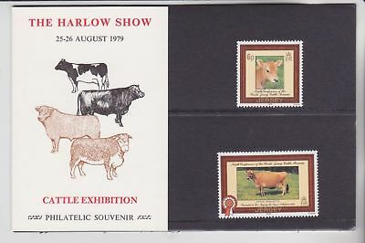 GB 1979 Jersey Cattle Cow The Harlow Show private Presentation Pack VGC stamps