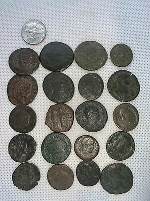 12MB Lot of 20pcs.Ancient Late Imperial Roman Coin