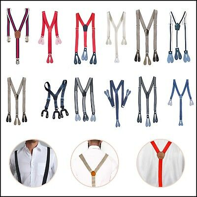 Kids Adjustable Suspender 20mm/25mm Braces Elastic Strips Button Hole Trouser