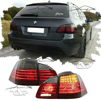 Rear Led Tail Tube Lights Red-Smoke For Bmw E61 03-07 Touring Series 5 Lamp New