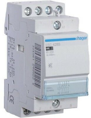 Hager HUMFREE CONTACTOR 230V 25A 3xN/O, 1xN/C Screw Connection *German Brand