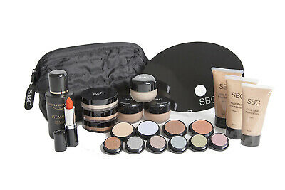 SBC Student Beauty Makeup Kit with Creme Base, Fluid & Mineral Foundations