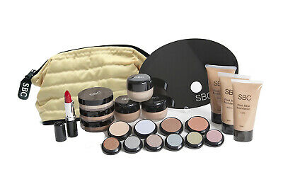SBC Student cosmetic Beauty Makeup Kit with Creme,Fluid & Mineral Foundations
