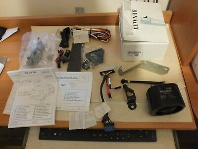 New Genuine Renault Clio 3 alarm System with instructions & Key  7711236163  R53