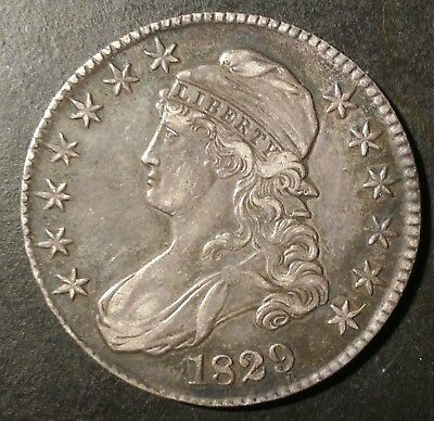 1829 Capped Bust Half Dollar, Original
