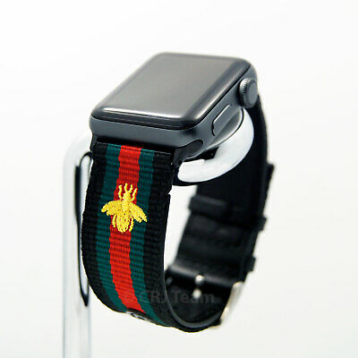 Apple Watch Band Gucci Stripe Replacement Leather Strap 38/40/42/44 mm 1/2/3/4/5