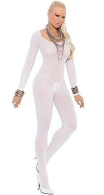 Full BodyStocking for Women Opaque Catsuit Fishnet Crotchless Bodystockings