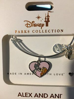 Disney Parks Lady and the Tramp Valentine's Day Bangles by Alex & Ani Silver