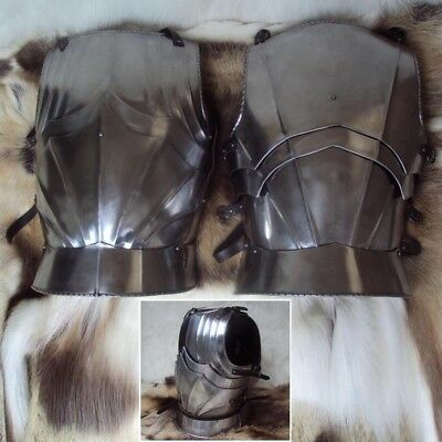 Medieval Gothic Armour Cuirass -16 Gauge, Idea For Stage, Re-enactment or LARP