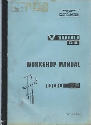Workshop Manual Moto Guzzi V 1000 G 5 and 1000 SP models