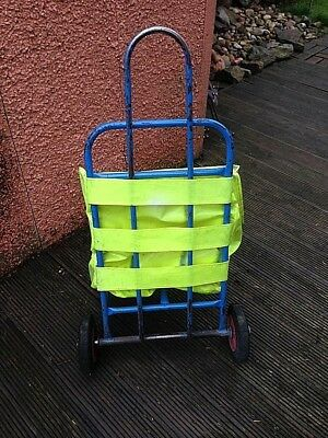 Paper Round Trolley ,cart  Manual Lifting Barrow Leaflets Distribution Bag