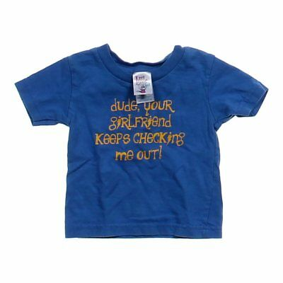 Little Teez Baby Boys  Graphic T-shirt, size 12 mo,  purple,  cotton