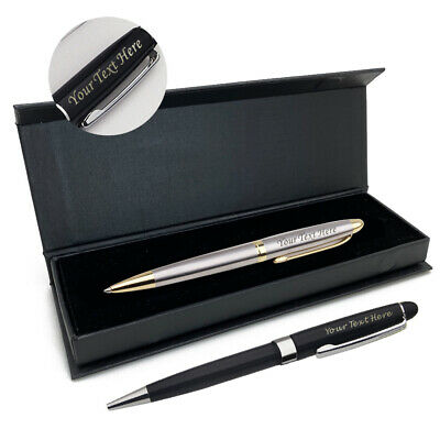 Personalised Ballpoint Pen Custom ENGRAVED Student Business Mothers Day Gift Box