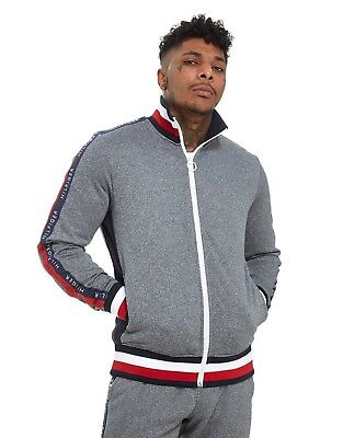 fcfb6f08 Tommy Hilfiger Tech Terry Grey Track Top - New w/Tags -Top Quality Item