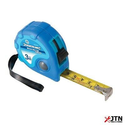 Silverline 633818 Measure Mate Metric & Imperial Tape Measure 3m / 10ft x 16mm