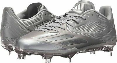 low priced 17296 dbecc Adidas Adizero Afterburner 3 Mens Metal Baseball Cleats Size 13 BW0358 -  SILVER