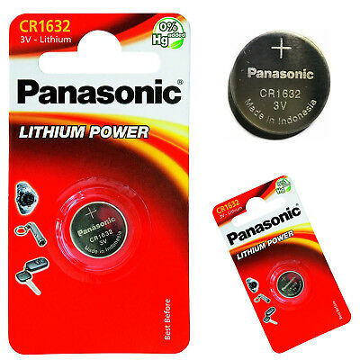 Panasonic CR 1632,DL1632 3V Lithium Battery Cell Single Button Powers Gadgets