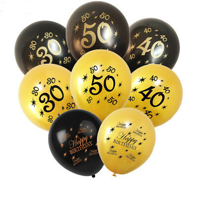 Cheers to 30th 40th 50th Party Supplies Anniversary Decor Latex Number Balloons