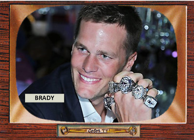 TOM BRADY 55 ACEO ART CARD ## BUY 5 GET 1 FREE # or 30% OFF 12 OR MORE CARDS