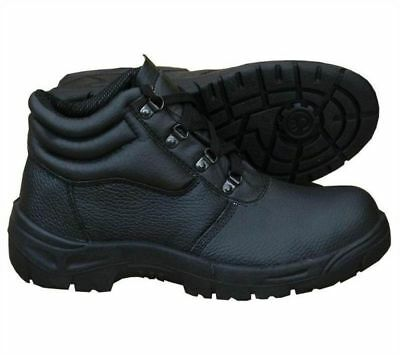 Mens Chukka Safety Boots Leather Work Wear Steel Toe Cap & Midsole Sizes 4-12!