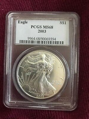 2003  American Silver Eagle Sharp PCGS MS68***Nicer Collectable