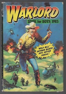 Warlord Book for Boys 1983 with Wild Bill Butcher
