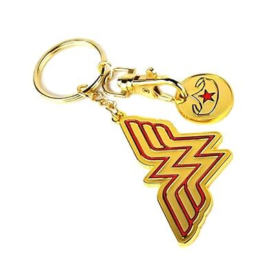 Genuine DC Comics Wonder Woman Logo Keyring Fob Trolley Coin Gift Justice League