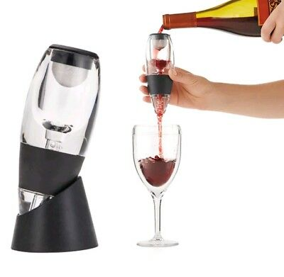 Magic Decanter Red Wine Aerator Sediment Filter Mini & Rabbit Ear Corkscrew set.