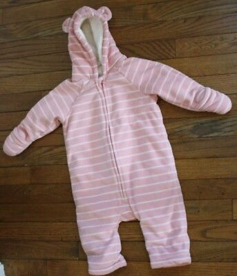 b5ff9bb106d3 BABY BUNTING SNOWSUIT Old Navy 6 12 months Bear Ears and Stars ...